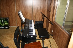 my Korg M50, seat, and amplifier